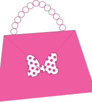 Turma do Mickey - Bolsa Minnie Rosa Png