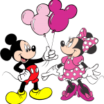 Turma do Mickey – Mickey e Minnie Rosa Png