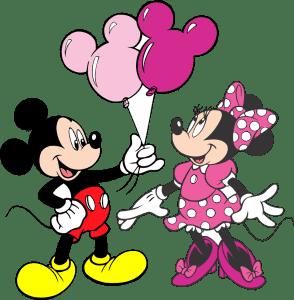 Turma do Mickey - Mickey e Minnie Rosa