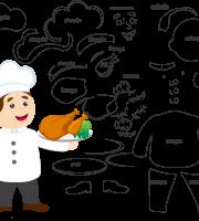 Molde de Chefe de Cozinha 1 para Eva, feltro e artesanato