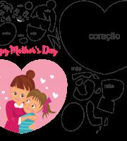Molde de Dia das Mães para Eva, Feltro e Artesanato