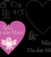 Molde de dia das mães 20 para Eva, Feltro e Artesanato