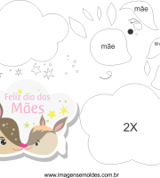 Molde de dia das mães 3 para Eva, Feltro e Artesanato