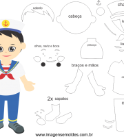 Molde de Marinheiro 1 para Eva, Feltro e Artesanato