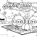 Desenhos para colorir do Angry Birds