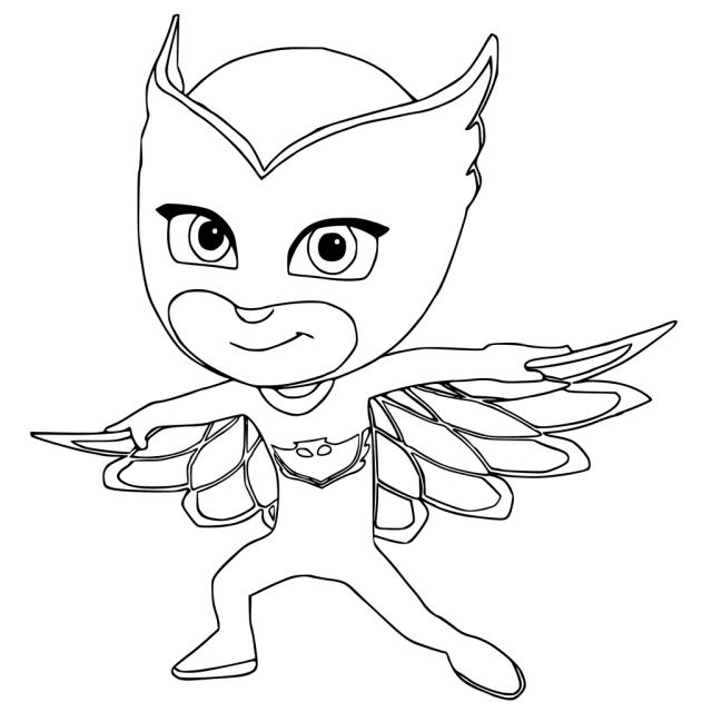 desenhos para colorir heróis de pijama