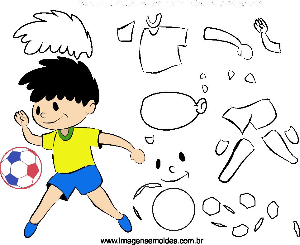 Molde de Copa do Mundo 7 para Eva, Feltro e Artesanato