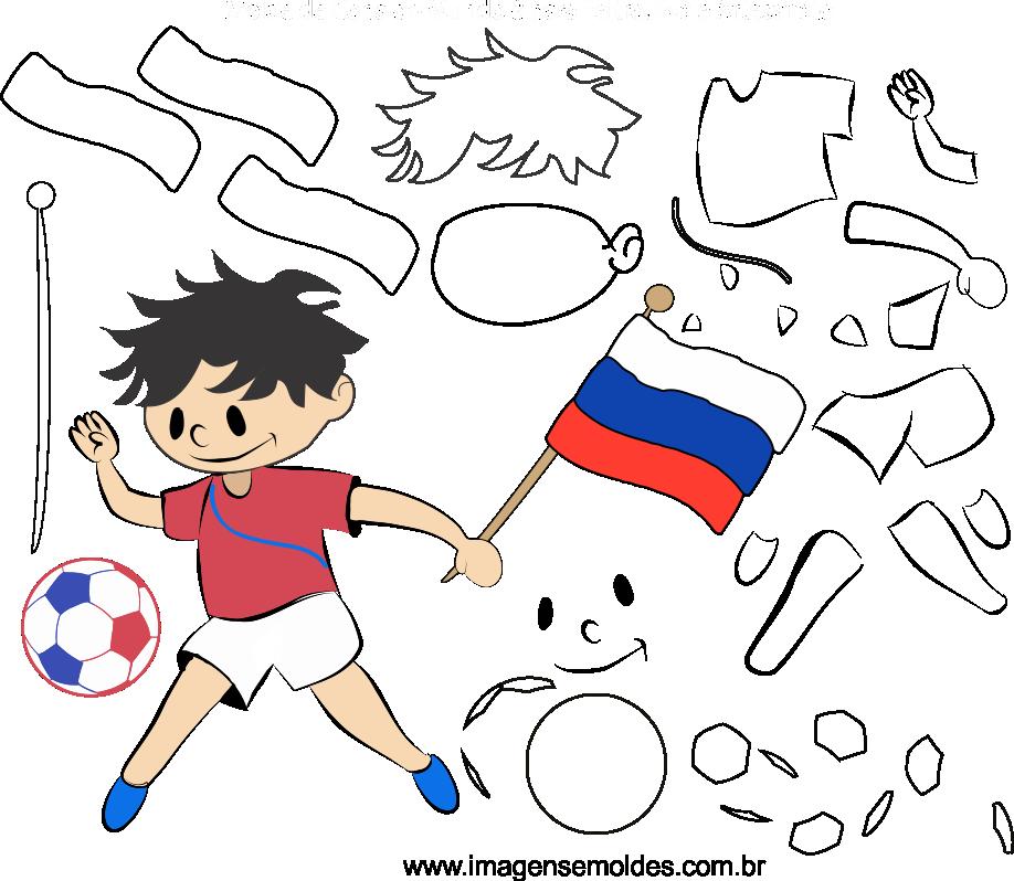 Molde de Copa do Mundo 8 para Eva, Feltro e Artesanato