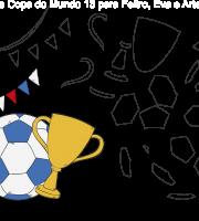 Molde de Copa do mundo 13 para Eva, Feltro e Artesanato