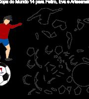 Molde de Copa do Mundo 14 para Eva, Feltro e Artesanato
