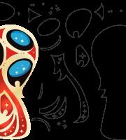 Molde de Copa do Mundo 3 para Eva, Feltro e Artesanato