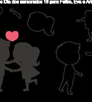 Molde de dia dos Namorados 16 para Feltro, Eva e Artesanato
