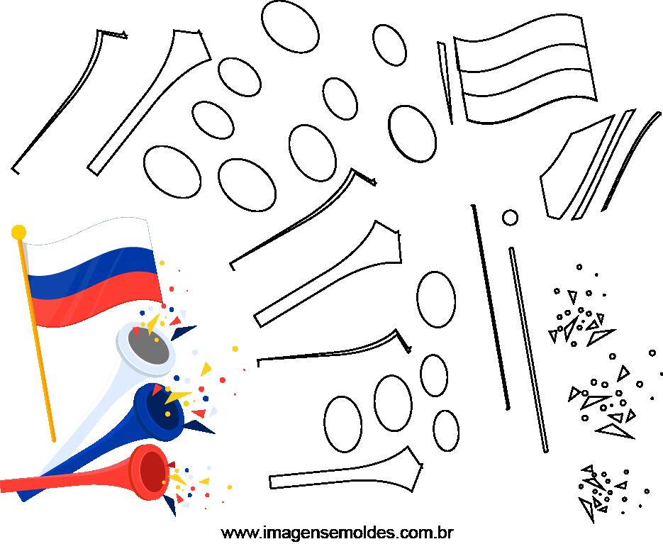 Molde de Copa do mundo 6 para Eva, feltro e artesanato