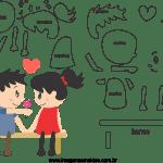 Molde de dia dos Namorados 6 para Feltro, Eva e Artesanato