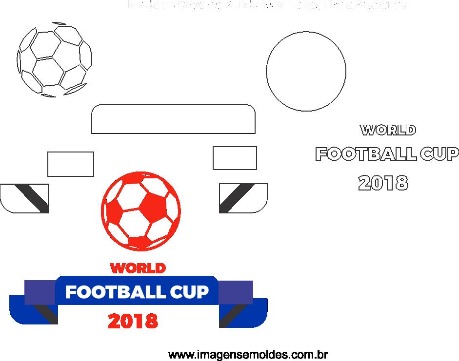 Molde de copa do Mundo 12 para Feltro, Eva e Artesanato