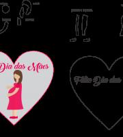 Molde de dia das Mães 26 para Eva, Feltro e Artesanato