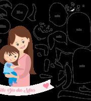 Molde de dia das Mães 33 para Eva, Feltro e Artesanato