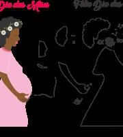 Molde de dia das Mães 35 para Eva, Feltro e Artesanato
