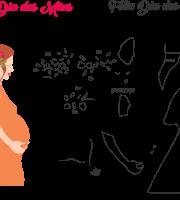 Molde de dia das Mães 36 para Eva, Feltro e Artesanato