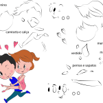 Molde de Dia dos Namorados 11 para Feltro, Eva e Artesanato