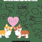 Molde de Dia dos Namorados 12 para Feltro, Eva e Artesanato