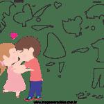 Molde de dia dos Namorados 3 para Feltro, Eva e Artesanato