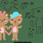 Molde de dia dos Namorados 4 para Feltro, Eva e Artesanato