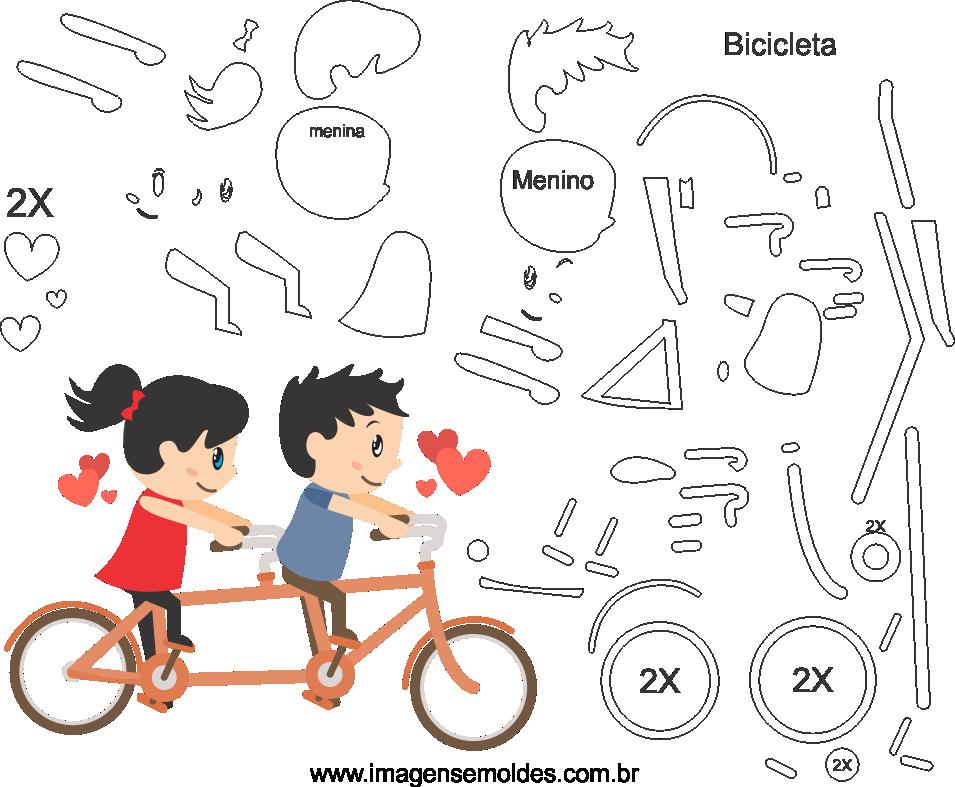 Molde de dia dos Namorados 5 para Eva, Feltro e Artesanato