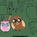 Molde de dia dos Namorados 8 para Feltro, Eva e Artesanato