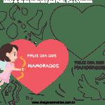 Molde de dia dos Namorados 17 para Feltro, Eva e Artesanato