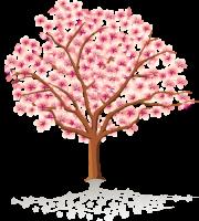 Árvores - Árvore Folhas Rosa 3