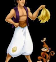 Aladdin - Aladdin e o macaco Abu PNG