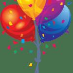 Balões – Conjunto de Balões Coloridos 12 PNG