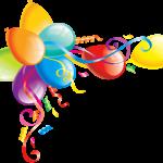 Balões – Conjunto de Balões Coloridos 16 PNG
