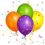 Balões – Conjunto de Balões Coloridos 5 PNG