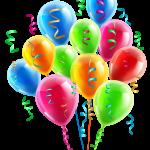 Balões – Conjunto de Balões Coloridos 8 PNG