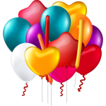 Balões – Conjunto de Balões Coloridos 9 PNG