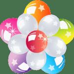 Balões – Conjunto de Balões Coloridos Flor PNG