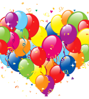 Balões - Conjunto de Balões Coloridos em Coração