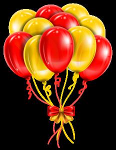 Balões - Conjunto de Balões Vermelho e Dourado
