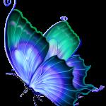 Borboletas – Borboleta Azul 3 PNG