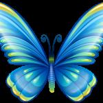 Borboletas – Borboleta Azul Colorida PNG
