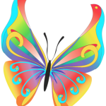 Borboletas – Borboleta Bonita Colorida 6 PNG