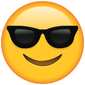 Emoji Óculos de Sol