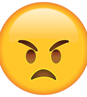 Emoji Muito Bravo