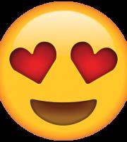 Emoji Olhos de Coração