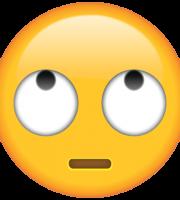 Emoji Olhos para Cima