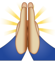Emoji Rezando