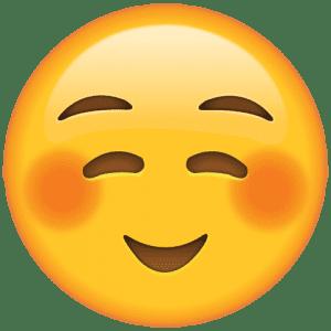 Emoji Sorriso Tímido