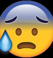 Emoji Suando Frio